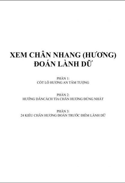 Xem Chân Nhang (Hương) Đoán Lành Dữ